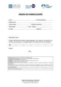 ORDEN DOMICILIACIÓN