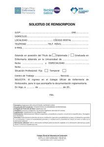 REINSCRIPCIÓN DE COLEGIADO